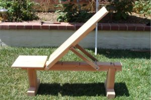 Wooden Workout Bench