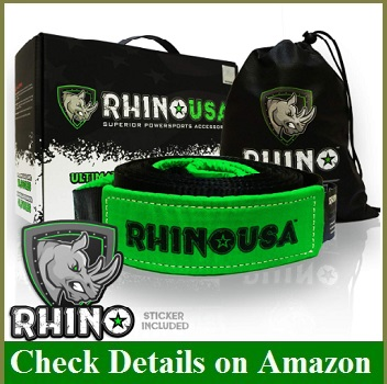 RHINO USA Recovery Tow Strap 3 x 20ft