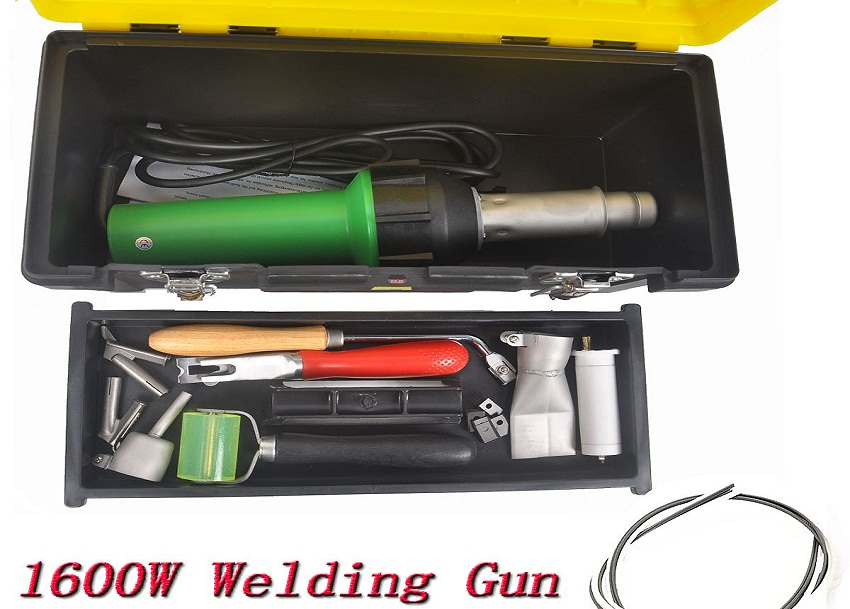 Go2Home 1600W Hot Air Gun Plastic Welder Heat Welding Gun Kit